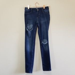 So skinny pant distressed jeggings size 12 (c)